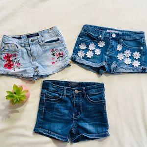 Girls Boho Denim Short Bundle